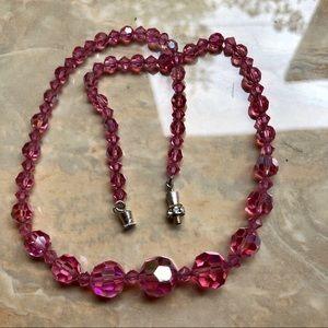 Jewelry - VTG Aurora Borealis Graduated Crystal Necklace